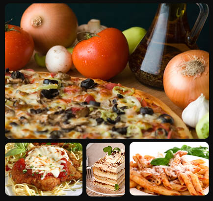 J. Christopher's Pizza-Pasta, made from scratch homemade pizza using fresh ingredients, thin crust is crispy and square cut, Chicago style deep dish available also for delivery, dine-in or takeout.